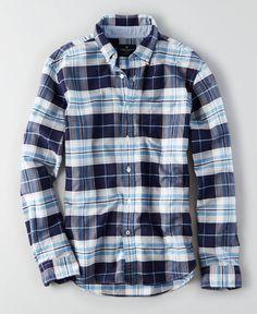 AEO Oxford Button Down Shirt, Men's, Light Blue