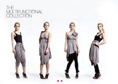 Endless dress #convertibledress #selfishsewing Danish designer Emami
