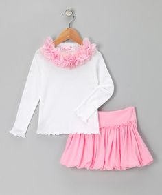 Take a look at this Light Pink Marie Tee & Bubble Skirt - Toddler & Girls by Tutu Moi on #zulily today!