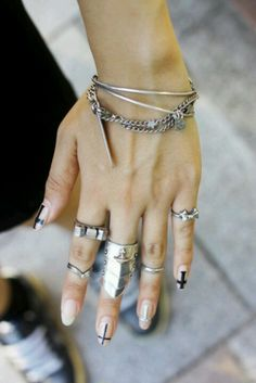 Five finger workout. #Edgy #accessories #rings #jewelry