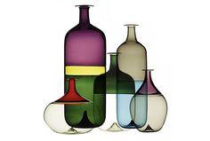 Modernísimas botellas de vidrio de 1968 en http://monkeyzen.com