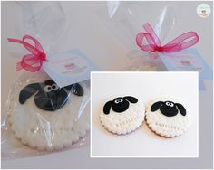 Shaun The Sheep Cookie favours Fondant Cookies, Cupcake Cookies, Easter Cookies, Easter Treats, Shaun The Sheep Cake, Cake Pops, Timmy Time, Cupcake Recipes From Scratch, Eid Crafts