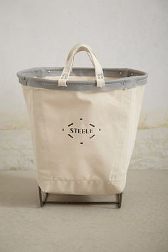 Canvas Carry Basket #anthropologie