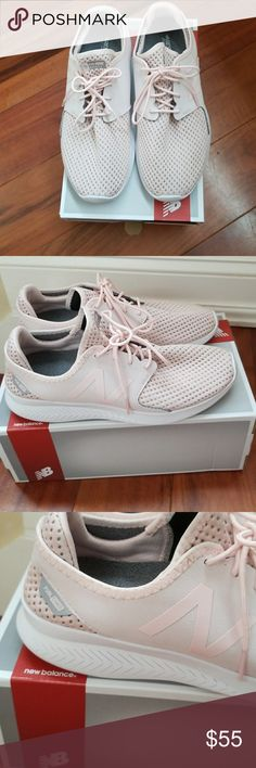New Balance pale pink running shoe Pretty pale pink to complete the perfect athleisure look. Super comfy,  worn a handful of times New Balance Shoes Athletic Shoes