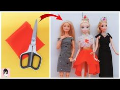 DIY ball gown for Barbie Sewing Barbie Clothes, Barbie Sewing Patterns, Barbie Dolls Diy, Barbie Dress, Diy Doll, Doll Clothes, Barbie Stuff, Diy Dress, Diy Clothing