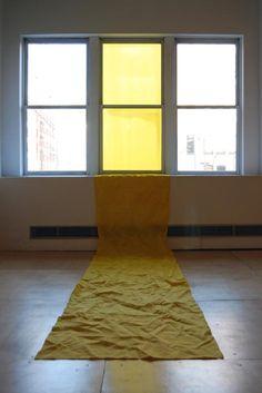 Yellow Interior, fabric installation in UIC's Art and Design Hall, by Philip Matesic: MFA Studio Arts 2008