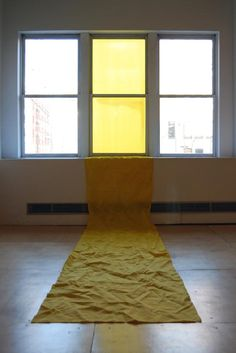 Yellow Interior, fabric installation in UIC's Art and Design Hall, by Philip Matesic: MFA Studio Arts 2008