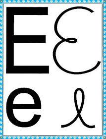 Cartazes do alfabeto quatro tipos de letras com margem azul - Alfabetos Lindos Alphabet, Symbols, Letters, Education, Sim, Gabriel, Kids Learning Activities, Preschool Literacy Activities, Cursive Letters