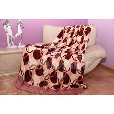 Krémová deka s béžovo - bordovým vzorom - domtextilu. Blanket, Tv, Television Set, Blankets, Cover, Comforters, Television