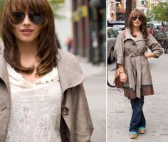 Street style: The perfect fall look - all secondhand! Greenwich Village, Fall Looks, Street Fashion, Amanda, Nyc, Ruffle Blouse, Street Style, Tops, Women