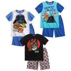 Pijama de #AngryBirds #StarWars surtido 6(2)-8(2)-10(2)-12(2), por sólo 8.09€ unidad!
