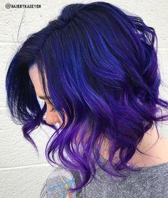 Blue pink purple galaxy rainbow hair using pulp riot-7812
