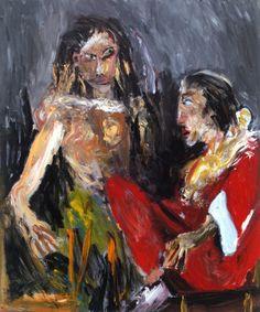 Infatuation 2002 oil on canvas X - michael hafftka Portrait Art, Portraits, Art World, Art Day, Insta Art, Oil On Canvas, Contemporary Art, Infatuation, Fine Art
