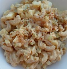 Happier Than A Pig In Mud: Deviled Egg Macaroni Pasta Salad