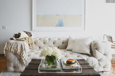 love this tufted couch