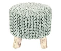 """Puf """"Big Knit II"""", výš. 65, Ø 40 cm Big Knits, Home Living, Home Crafts, Bubbles, Crochet Hats, Knitting, Stools, Furniture, Studio"""