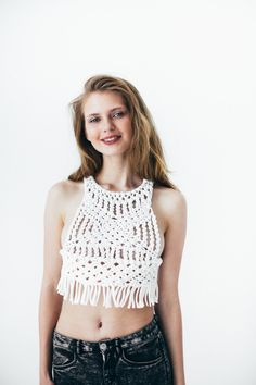 Macrame Top by flavourknit on Etsy
