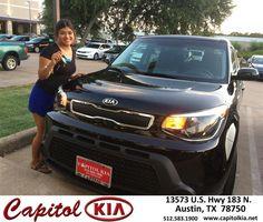 https://flic.kr/p/JKkNGC | Congratulations Kristal on your #Kia #Soul from Victor Montes at Capitol Kia! | deliverymaxx.com/DealerReviews.aspx?DealerCode=RXQC