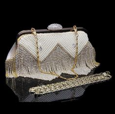 New Arrival High Quality Rhinestone Bags Pearl women Day Clutches Single chain Shouldbags Girl Party Evening bags Fahion Purse