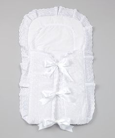 Take a look at this White Elegant Bow Blanket on zulily today!