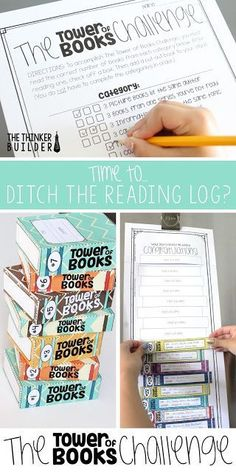 The Tower of Books Challenge is an independent reading challenge, great for a summer reading assignment or to replace that hum-drum reading log your students dread. An engaging format and tons of options! Read more about it in this blog post by The Thinke