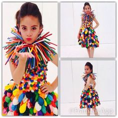 Modelo: KIM Muñoz Vestido de globos by: Katty V/Cata D. Halloween Costume Tutu, Cool Costumes, Paper Fashion, Fashion Art, Fashion Show, Fashion Design, Recycled Costumes, Recycled Dress, Baby Kostüm