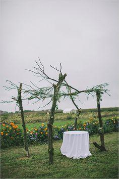 rustic outdoor wedding ceremony decor