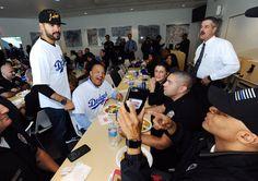 Ethier, Roberts visit LAPD & LAFD - 2017 Dodgers Love LA Tour
