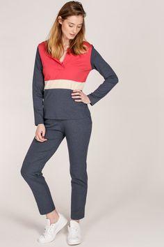 Bella block color top + Bella pants
