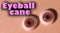 Polymer clay glass like doll eyes (eyeball cane tutorial) (+playlist)