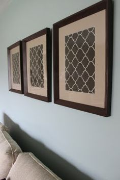 Framed fabric prints