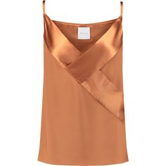 Shop on-sale Dion Lee Satin-paneled silk camisole . Browse other discount designer Tops & more on The Most Fashionable Fashion Outlet, THE OUTNET. Satin Cami Top, Silk Top, Camisole Top, Beige Shirt, Loose Tank Tops, Dion Lee, Discount Designer Clothes, Clothes For Sale, Fashion Outfits