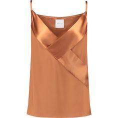 Dion Lee Satin-paneled silk camisole ($182) via Polyvore featuring intimates, camis, satin camisole, silk satin camisole, silk cami, silk camisole and satin cami