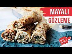 BÖREK TADINDA EL AÇMASI MAYALI GÖZLEME TARİFİ💯NEFİS - YouTube Food And Drink, Chicken, Meat, Youtube, Cubs, Kai