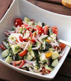 Easy Greek Chopped Salad | Cool Cooking School