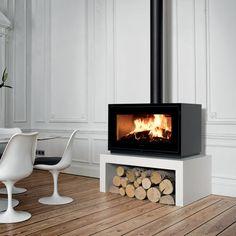 Poêle à bois / contemporain / en acier INFINITY 1000 Richard le Droff