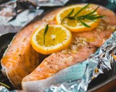 Darnes de saumon à l'orange en papillote