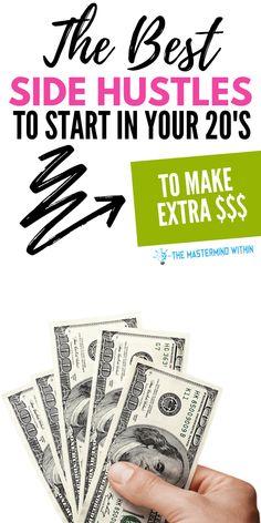 The best time to start side hustling is in your Find out the best sidehustles to start in your and make extra money. These side hustles will help you start bringing in extra money now! Make More Money, Extra Money, Make Money Online, Extra Cash, Financial Literacy, Financial Planning, What Happened To Us, Online Business Opportunities, Investment Tips
