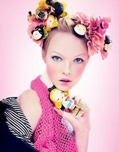 """The World of Harajuku Lovers Fragrance"" (Gwen Stefani) | Model: Siri Tollerod, Photographer: Craig McDean, L.A.M.B., Fall/Winter 2008"