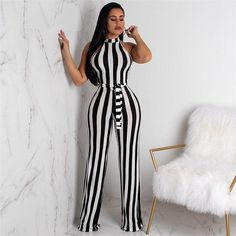 dac86b9818 Summer New Blue Bodycon Backless Stripe Jumpsuits Women Sexy Party Clubwear Jumpsuits  Casual Bowtie Overalls Jumpsuit Plus Size.