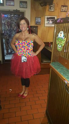 Gumball Machine Halloween Costume, Easy Couple Halloween Costumes, Crazy Costumes, Tutu Costumes, Halloween Stuff, Halloween Diy, Costume Ideas, Bubble Gum Machine Costume, Tutu Women