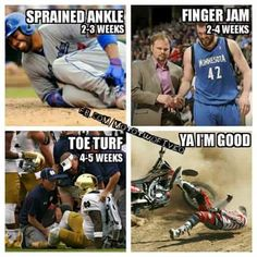 and that's why they get paid the big bucks. Motorcycle Humor, Motorcycle Clubs, Motocross, Monster Energy Supercross, Make Em Laugh, Sprained Ankle, Athletic Trainer, Busse, Dirtbikes