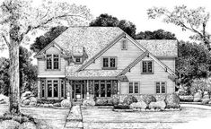 French Country Plan: 3,032 Square Feet, 4 Bedrooms, 2.5 Bathrooms - 041-00205 French Country House Plans, Craftsman Style House Plans, Build Your Dream Home, My Dream Home, Floor Plan Drawing, Home On The Range, Traditional House Plans, Best House Plans, Square Feet