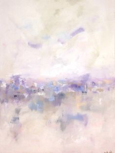 Large Lavender Abstract City Original Painting by lindadonohue, $695.00