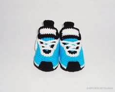 Baby Shoes Crochet Tennis Shoes Baby Shower by BABYCROCHETfashion