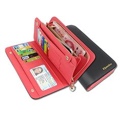KQueenStar Women Lady Leather Wallet Purse Credit Card Clutch Holder Case ** Want additional info? Click on the image.