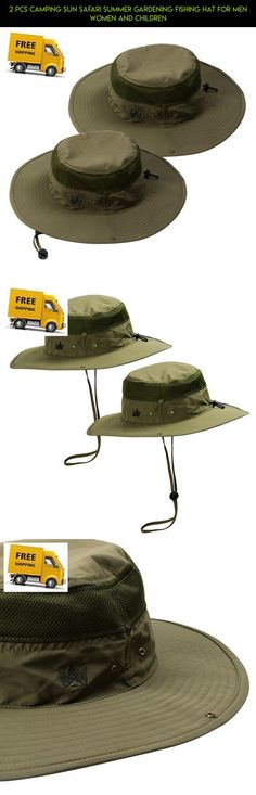 a0cdba4528389 2 Pcs Camping Sun Safari Summer Gardening Fishing Hat For Men Women And  Children  parts