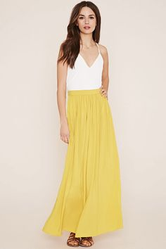 Contemporary Maxi Skirt - Skirts - Midi + Maxi Skirts - 2000152177 - Forever 21 EU English