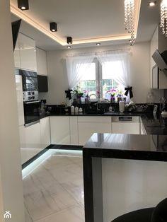 Galley Kitchen Design, Luxury Kitchen Design, Kitchen Room Design, Home Room Design, Kitchen Cabinet Design, Home Office Design, White Kitchen Interior, Kitchen Modular, Ceiling Design Living Room
