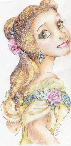 Belle Portait by ~virginie25 on deviantART